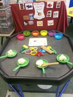 Tuff spot for cookery etc - All ready for pancake day fun! Nursery Activities, Playdough Activities, Preschool Activities, Pancake Day Eyfs Activities, Shrove Tuesday Activities, Book Activities, Tuff Spot, Early Years Classroom, Early Years Maths