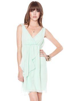 ShopSosie Style : Daphne ruffle dress in mint
