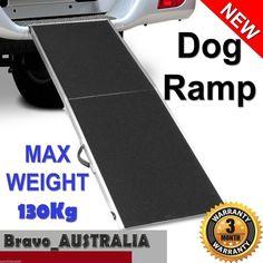 Portable Aluminium Foldable Pet Dog Car Van Extra Large Non Slip Surface Ramp