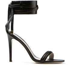 Jason Wu black leather high-heeled sandals found on Polyvore