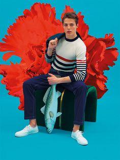 Maison Kitsune SS17.  menswear mnswr mens style mens fashion fashion style maisonkitsune campaign lookbook