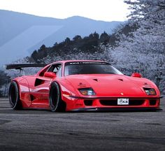 Liberty Walk Ferrari F40 rendering Sincerely hope no one is idiotic enough to actually do this... #Ferrari #F40
