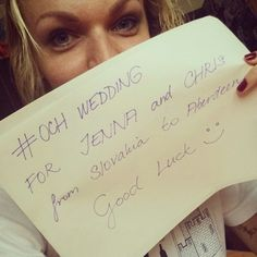 #OCHWedding - support from wonderful people. Please choose us to win Chris Gray and Jenna Goff