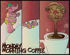 Il #caffè del #lunedì. Monday morning #coffee