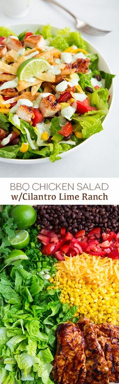 BBQ Chicken Salad with Cilantro Lime Ranch - this salad is amazing! @Jaclyn Bell {Cooking Classy}