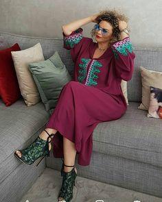Caftan Dress, Hijab Dress, Abaya Fashion, Modest Fashion, Muslim Fashion, Morocco Fashion, Mode Abaya, Mode Simple, Muslim Wedding Dresses