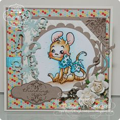Sweet Henry Mouse is water-colored!