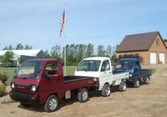 Red White & Blue mini trucks
