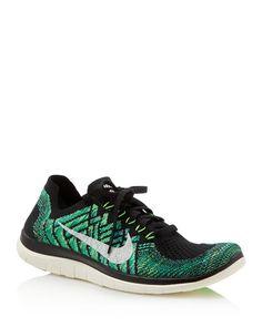 Nike Women's Free 4.0 Flyknit Lace Up Sneakers