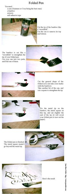 "The continuation of the tutorial ""How can you make a folded pen"": A tutorial by Translation and photos by You can fav and comment here."
