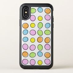 Elegant Colorful Pastel Retro Ovals Pattern Speck iPhone X Case - modern gifts cyo gift ideas personalize