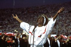 """Whitney Houston performs the national anthem at the 1991 Super Bowl.    Her story & historic career. """"It was the most influential performance of a national song since Marian Anderson sang """"My Country, 'Tis of Thee"""" on the steps of the Lincoln Memorial on the eve of the Second World War."""