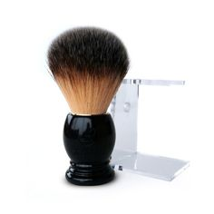 "This extraordinarily soft synthetic shaving brush from Plisson's ""La Maison du Barbier"" line brings exquisite French craftsmanship to your bathroom counter. The"