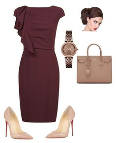 """Class and Sass"" by coomergirl on Polyvore featuring MaxMara, Yves Saint Laurent, Christian Louboutin and Michael Kors"