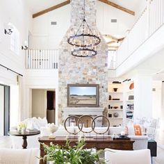 You know that feeling when you love every little detail?  What a stunning great room designed by @kellynuttdesign @ryangarvin #kathykuohome #ighome #interiordesign #interior #homestyling #home #homedecor #livingroom #livingroomdecor #designlove