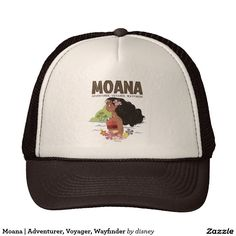 Moana | Adventurer, Voyager, Wayfinder. Regalos, Gifts. Producto disponible en tienda Zazzle. Product available in Zazzle store. Link to product: http://www.zazzle.com/moana_adventurer_voyager_wayfinder_trucker_hat-148162317292070831?CMPN=shareicon&lang=en&social=true&rf=238167879144476949 #gorra #hat #moana