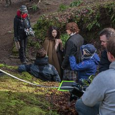 Less than two weeks from the #Outlander mid-season premiere. Here's another look #BehindTheScenes of an upcoming episode. #STARZ #BTS