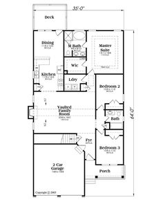 Open Concept House Plan