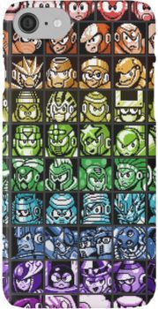 Mega Man Robot Masters Rainbow iPhone 7 Cases