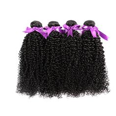 Yawida 7A Grade Unprocessed Brazilian Virgin Hair Extensions 4 Bundles Unprocessed Brazilian Kinky Curly Human Hair Weave Natural Color Human Hair Weft Pack of 4 (26,26,26,26) - Brought to you by Avarsha.com