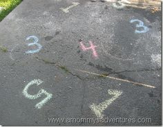 Outdoor Activity: Numbers Freeze Dance~All you need is chalk and music.