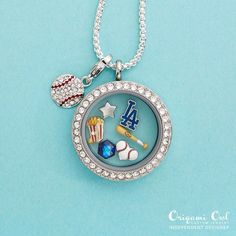 Origami Owl is a leading custom jewelry company known for telling stories through our signature Living Lockets, personalized charms, and other products. Dodgers Baseball, Rays Baseball, Dodgers Girl, Dodgers Fan, Softball, Dodgers Outfit, Baseball Gear, Basketball Hoop, Baseball Mom