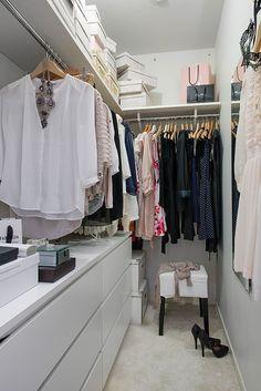 disposição closet pequeno