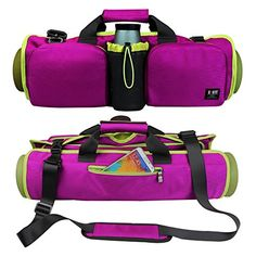 6bb207c15191 Bubm Yoga Roll Pack Fit Most Mat Size for Yoga or Pilates Large Pockets to  Carry