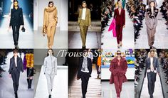 Women Trends Review Fall Winter 2014 - 2015: Trouser Suit