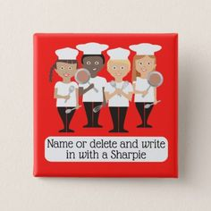 #chef - #Chef kids cooking class universal name badge button