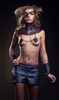 Blanche - Sexy Steampunk Fetish burlesque Nipple pastie Jewellery