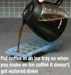 Check out some of the greatest life hacks and know how life hacks can be useful. Life hacking includes making a wrapping paper organizer, a sponge sanitizer and knowing the necessity of such great life hacks. Positive Schwingungen, Iced Coffee Drinks, Coffee Ice Cubes, How To Make Ice Coffee, Making Coffee, Coffee Blog, Coffee Coffee, Coffee Life, Coffee Scrub