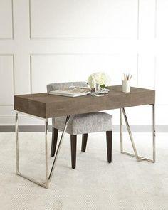 H9FPY Mitzi Faux-Shagreen Desk
