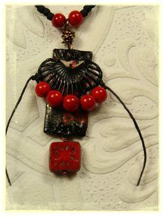 Black Gypsy Pendant Necklace Bohemian Chic Urban Gypsy Black Beaded Necklace by UrbanGypsyIndy on Etsy