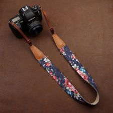 Flower Camera Strap / SLR Camera Strap / Canon Nikon Camera Strap / DSLR Camera Strap