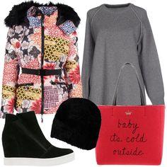 27525ae549 Coloriamo il grigio: outfit donna Trendy per scuola/universit  e tutti i  giorni | Bantoa