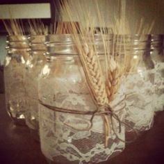 These are the table decorations! (minus some lavender with the wheat)
