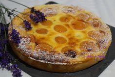 Tarte abricot, fromage blanc et lavande