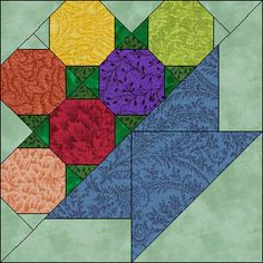 This is a Fruit Basket of octagons but you could replace them with hexagons and make a Flower Basket.