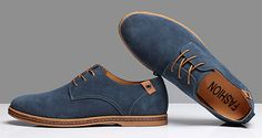Mens Casual Business Gray Tide Leather Shoes - US$26.95