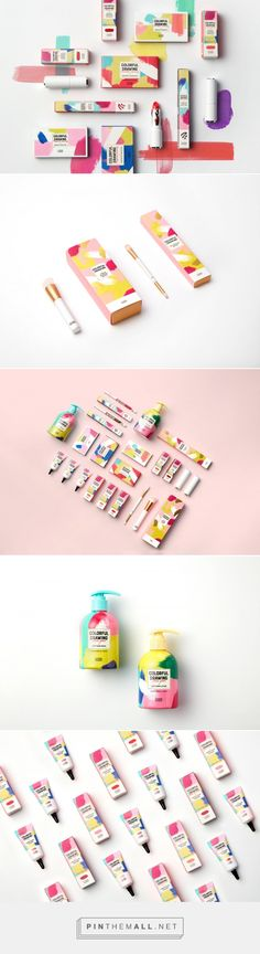 ETUDE HOUSE 2018 Spring Collection 'Colorful Drawing' packaging design. Created by ohSeven.