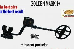 "Golden Mask 1+ Metal Detector 18khz with 10.5"" Search Coil"