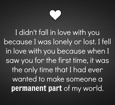 """Geez doesn't that sound wonderfully awesome as ever. """"Permanent Part"""" Yeah that sounds great & so true too Couple Quotes, Words Quotes, Me Quotes, Sayings, Loyalty Quotes, Love You Babe, A Guy Like You, My Love, Relationships Love"""
