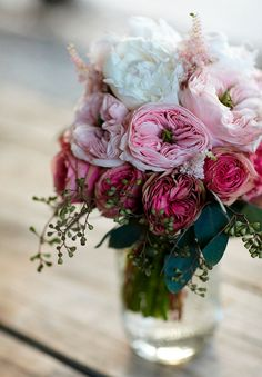 Peonies, roses, Kabuki Astilbe, and seeded eucalyptus amazing floral arrangement My Flower, Fresh Flowers, Beautiful Flowers, Colorful Roses, Pink Flowers, Romantic Flowers, Pink Peonies, Summer Flowers, Beautiful Life