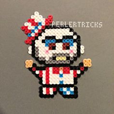 Captain Spaulding Perler bead magnet  Rob Zombie por HarmonArt2