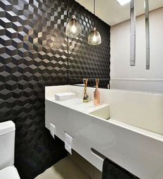 58 Navy Minimalist Decor Ideas You Need To Try - Interior Design Fans Bad Inspiration, Bathroom Inspiration, Apartment Entryway, Bedroom Styles, Bathroom Interior, Master Bathroom, Bathroom Lighting, Light Bathroom, Wall Lights