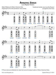 Amazing Grace - Low Version - five-hole Pentatonic Minor
