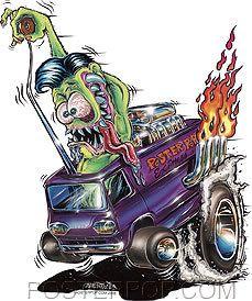 Monster Express Sticker Decal Art Von Franco Roth Like Desenho New School, Dessin Old School, Cartoon Rat, Cartoon Pics, Caricature, Ed Roth Art, Raiders, Cool Car Drawings, Fu Dog