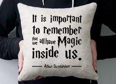 Dumbledore quote pillow