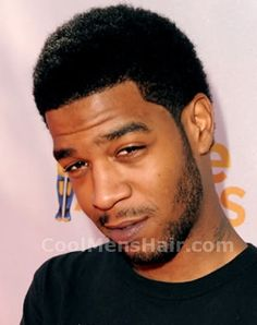 Kid Cudi African American neo-fro haircut picture.